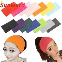 Garment Women Candy Color Wide  Headband Stretch Hairband Elastic Hair Bands Turban