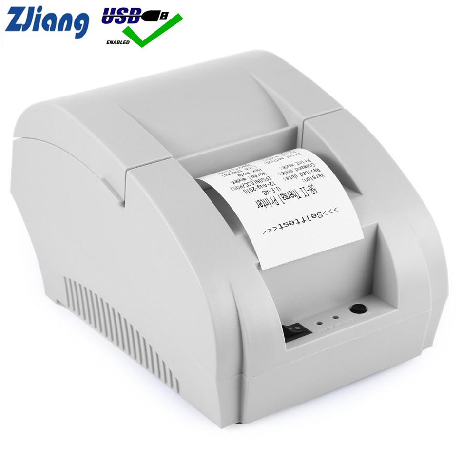 58mm Thermal Receipt Printer POS Printer Ticker Check For Restaurant And Supermarket Support Cash Drawer
