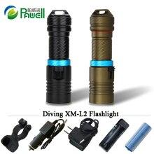 Potente xml l2 buceo linterna archon Caza Submarina linterna recargable Luz led cree xm-l2 18650 O 26650 de la batería