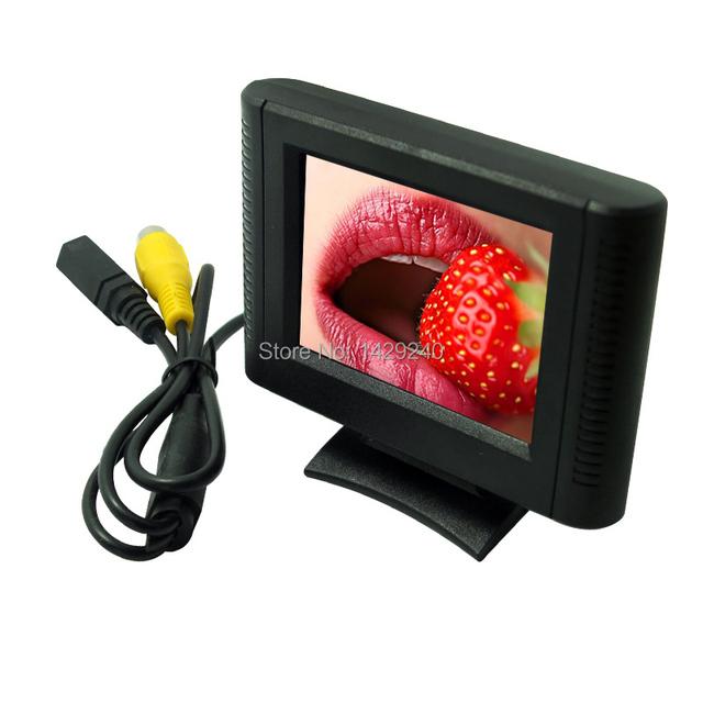 RCA de Vídeo Digital de 2.5 pulgadas Desmontable Vista TFT LCD Monitor Para DVD Sensor De Aparcamiento Retrovisor Camer #1365
