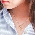 Корея стерлингового серебра 925 Луна кошка кулон ключицы цепи милый сладкий Минималистский chocker ожерелье для девочки подарок на день рождения