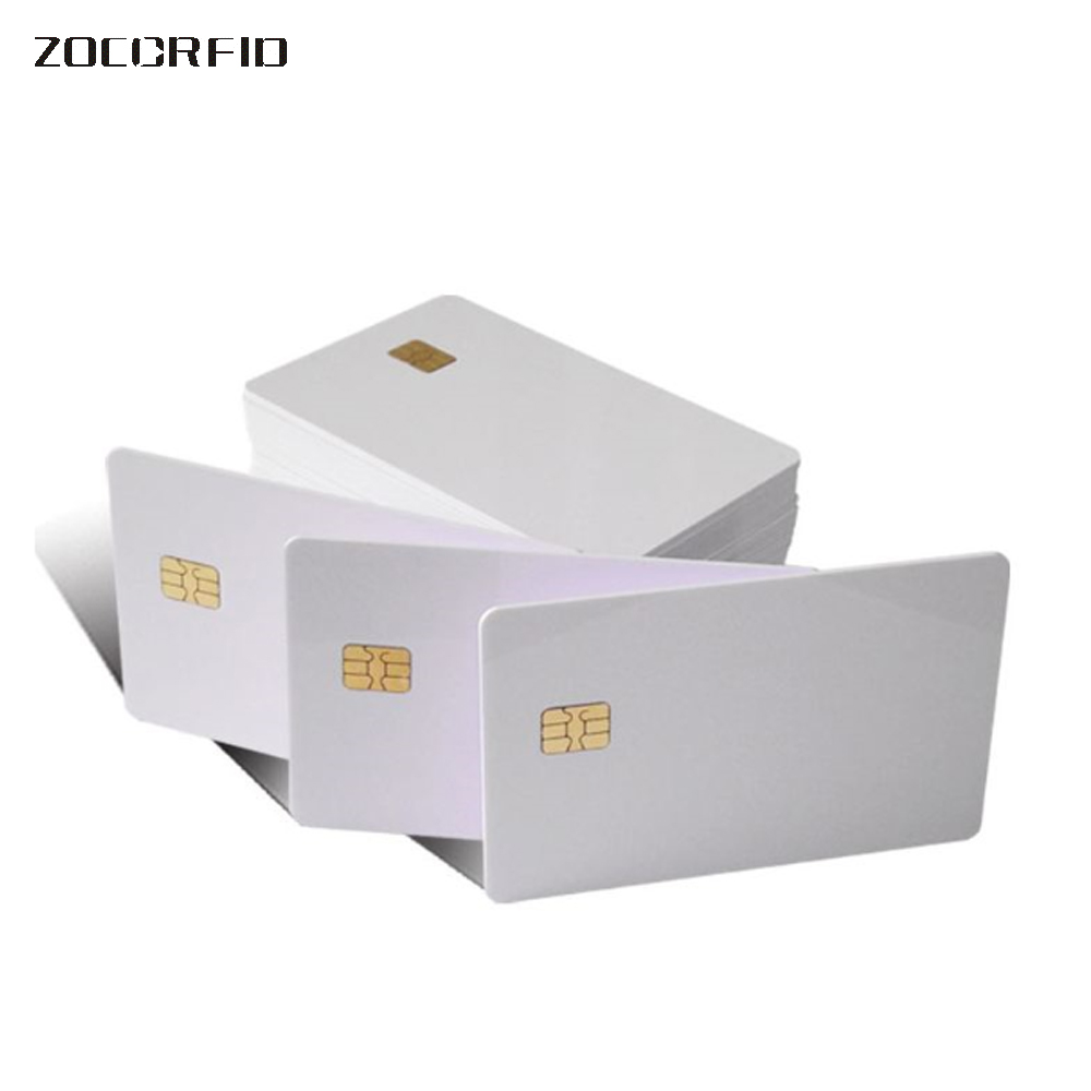 100 Pcs Blank PVC SLE-4442 IC Card/ISO7816-3 SiM Contact Card / SLE4442 Smart Card
