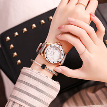цены на Women Sports Watches Women Leather Strap Casual Quartz WristWatch Clock Waterproof Ladies Watch bayan kol saati montre femme New  в интернет-магазинах