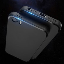 Matt case for iPhone 5 5S 5SE Anti finger print soft rubber silicone material free shipping