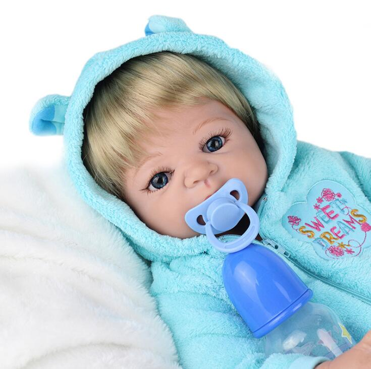 22 inch reborn boy doll reborn babies soft silicone baby dolls cloth body children fashion doll bebe alive reborn bonecas