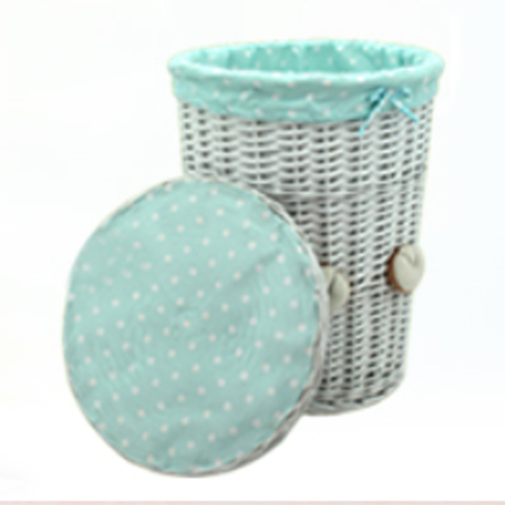 Aliexpress : Buy Woven Wicker Baskets Round Laundry Hamper Sorter  Storage Basket With Bear Head Lid Small Large Laundry Basket For Clothes  Panier From