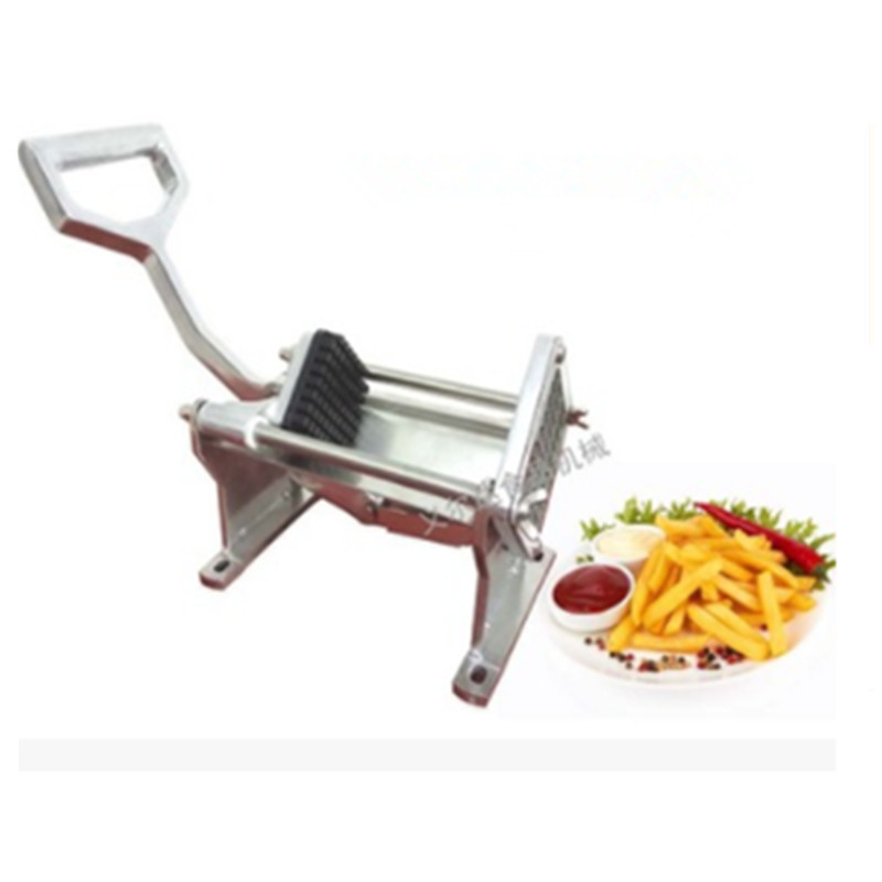 Acier inoxydable manuel Machine de découpe accessoires de cuisine Chopper coupe pommes de terre Chips pomme de terre bande Machine radis concombre - 2