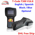 V16.8 T300 T-Code Professional Auto Key Programmer T 300 T-300 Car Transponder Key Decoder For Multi-Brands English/Spanish