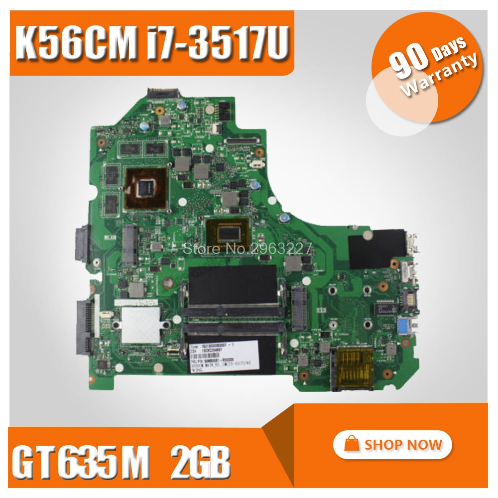 K56CM FOR ASUS S550C S550CM S550CB Motherboard K56CM REV2.0 Mainboard With I7-3517U GT635 2G 100% Tested