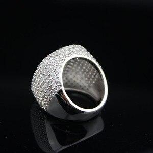 Image 3 - Bague de mariage élégante en lycra plaqué argent, bague de mariage de luxe en zircone cubique, pour femmes, fiançailles gracieuses