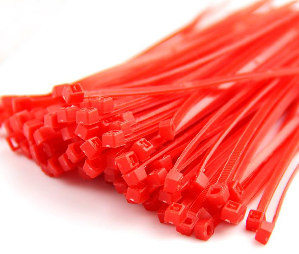 247bd1c2766e Red cable tie, 4x150mm, Nylon cable ties self-locking type cable ties of  plastic international standard. 300 pcs