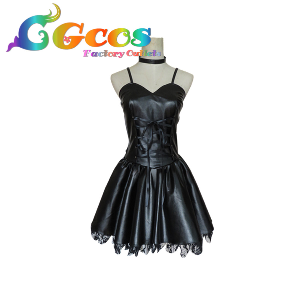 CGCOS Free Shipping Cosplay Costume Death Note Misa Amane Imitation Leather Dress Retail/Wholesale Halloween Christmas Party