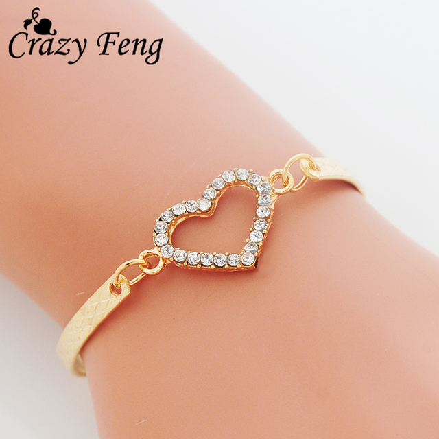 Heart Shaped Charm Bracelet