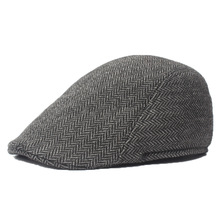 Classic Irish Flat Ivy Cap Tweed Newsboy Cap for Men Dark Grey Khaki