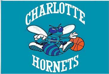 6dac6096a47 Charlotte Hornets Flag 3ft x 5ft Polyester Banner with 2 Metal Grommets