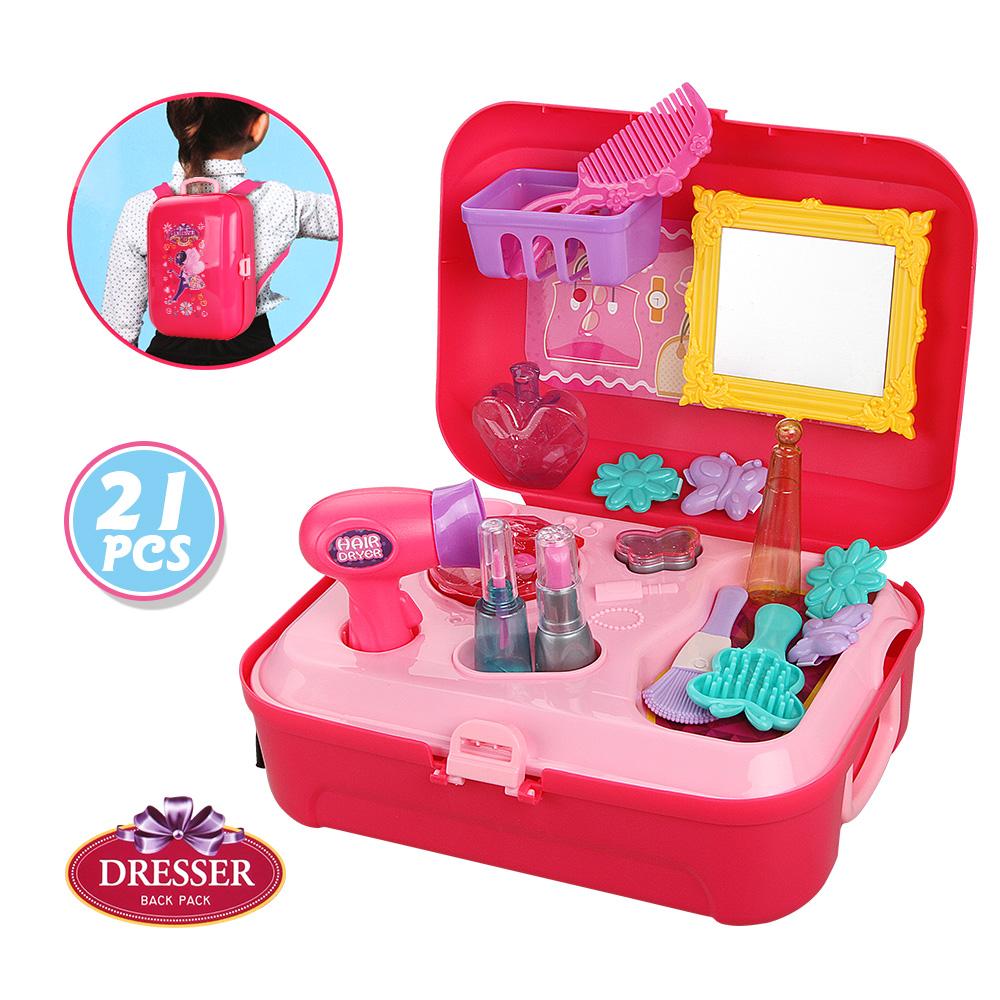 Baby Miniature Plastic Makeup Set Toys Pretend Play Children Toys For Gift Kids Children Girls Games
