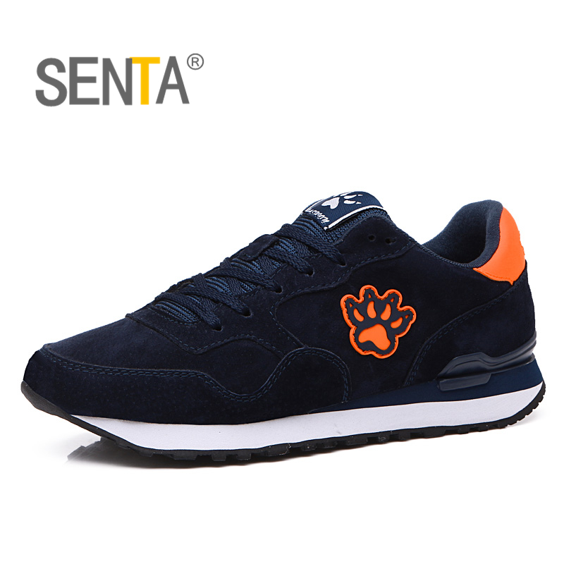 SENTA 2018 New Men Running Shoes Pigskin Uppers Sport Shoes for Boy Damping Light Men Retro running shoes Shoes Free Shipping