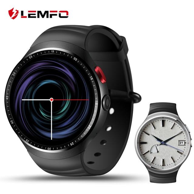 "Lemfo LES1 Смарт-часы 1 ГБ + 16 ГБ большой памяти 1.39 ""oled ОС Android 5.1 GPS Wi-Fi Arc круглый экран SmartWatch с 2.0 МП камера"