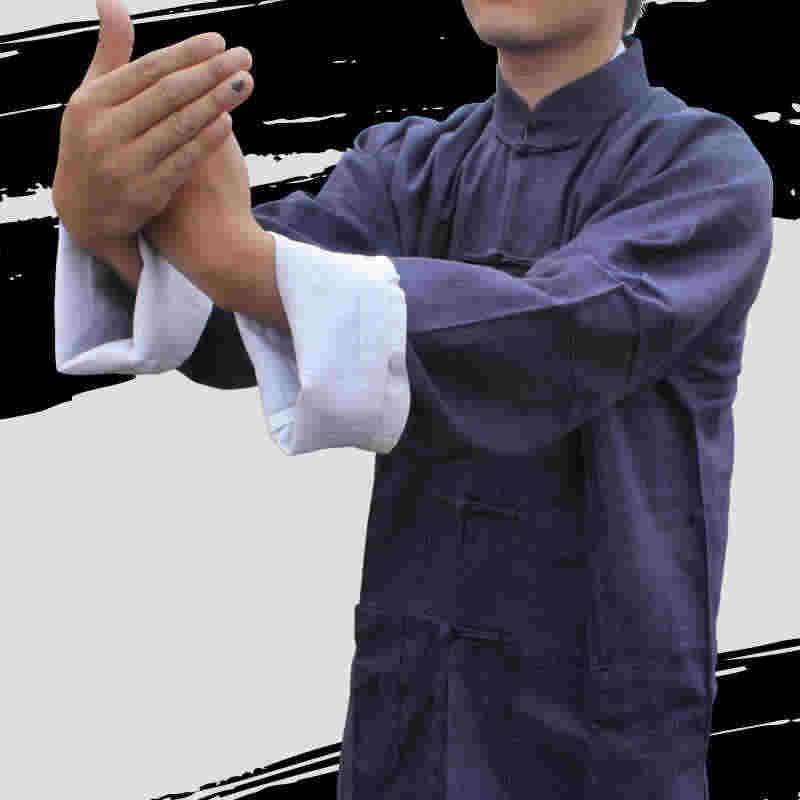 ブルース · リー服クラシック中国唐装黒青カンフースーツ翼のチュン太地太極拳服セット衣装男性のための