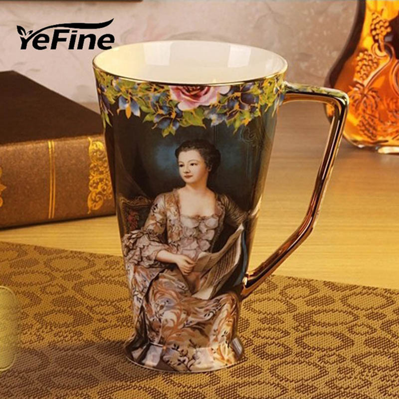 YeFine Ceramics Cups And Mugs Large Capacity Top Grade Porcelain Coffee Mugs Water Container Ceramic Tea