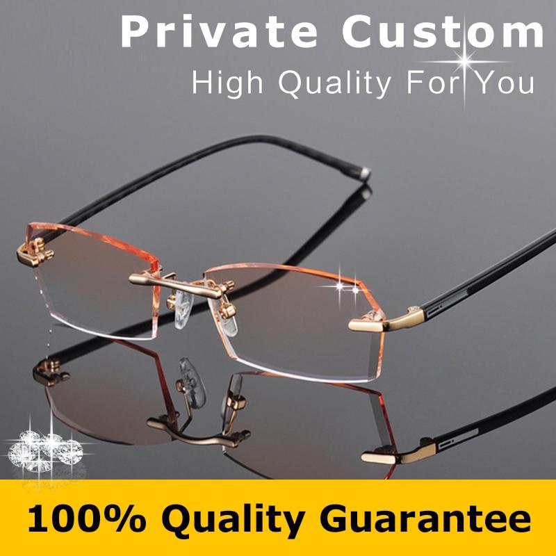 942a96957f Korean Glasses Frames Rimless Male Prescription Glasses Square Men Diopter Myopia  Prescription Glasses Online Eyeglasses 612-in Prescription Glasses from ...