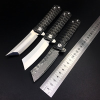 D2 Tanto Razor Folding Tactical Knife Bearing Camping Survival EDC Pocket Kwaiken Custom Knives Hunting Combat