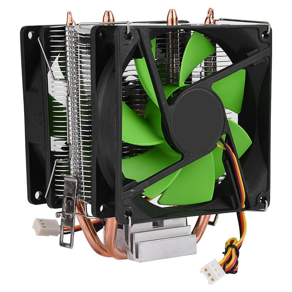90mm 3Pin CPU Cooler Heatsink Quiet fans for Intel LGA775/1156/1155 for AMD AM2/AM2+/AM3 Dual sided Fan Free Shipping cpu fan-in Fans & Cooling from Computer & Office