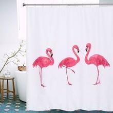 Cortinas De Ducha Flamingo 2016 Venta Caliente Estilo Europeo Baño Impermeable Cortina de Tela de Poliéster Baño Ducha Cortina 72X78 pulgadas