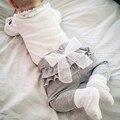 Primavera Outono Crianças Leggings de Algodão Para O Laço Bowknot Ruffle Leggings Calças Da Menina do Menino Da Criança Do Bebê Do Bebê Calças Harém Meninos