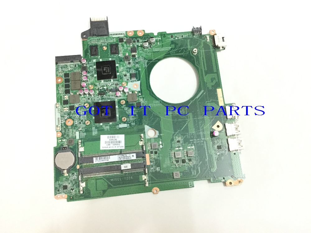 FREE SHIPPING 762531-501 DA0U92MB6D0 REV : D LAPTOP MOTHERBOARD for HP Pavilion 15-P Notebook PC COMPARE BEFORE ORDER