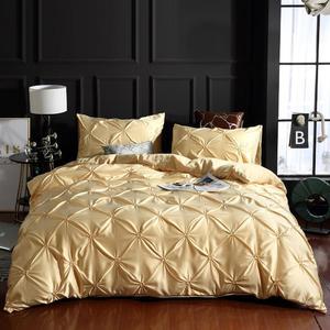 Image 5 - LOVINSUNSHINE Luxury Duvet Cover Bedding Set Queen Bed Quilt Covers Bed Linen Linen Silk AN04#