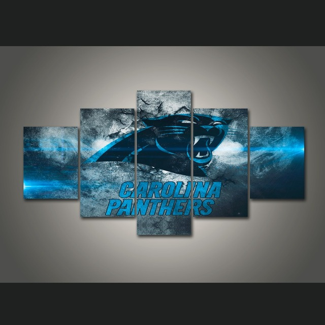 5 Pieces/set Carolina Panthers Soprts Posters Backdrop Famous Wall ...
