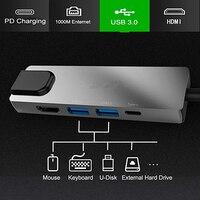 USB Type C Hub Hdmi USB C Hub to 1000M Gigabit Ethernet 5 in 1 for MacBook Pro Google Thunderbolt 3 USB C Charger Port p18
