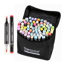 فرشاة ناعمة برأسين من Finecolour EF102 قلم تحديد احترافي لرسم اللوحات الفنية 240 لون + 25 قطعة لوازم ألوان البشرة