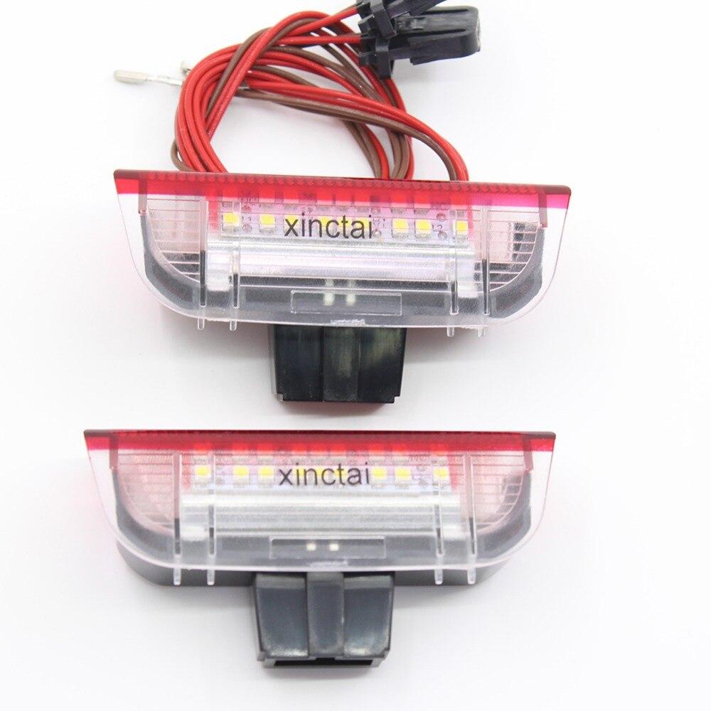 Red/White LED Rear Courtesy Side Door Light for VW GOLF 5 6 Plus Jetta Passat CC 2006+