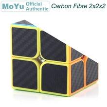 MoYu MF2 Carbon Fibre Sticker 2x2x2 Magic Cube 2x2 Cubo Magico Professional Neo Speed Puzzle Kostka Antistress Fidget Toys