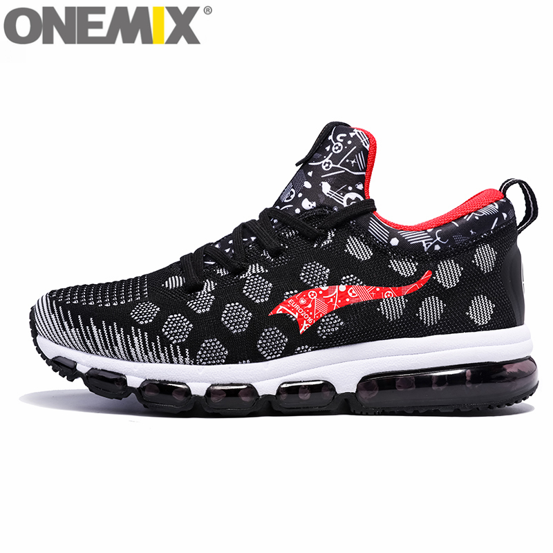 ONEMIX Air Cushion Sneaker Original Zapatos De Hombre Medium Upper Athletic Outdoor Sport Shoes Female Running Shoes onemix unisex runner sneaker original zapatos de hombre 2017 new women athletic outdoor sport shoes men running shoes size 36 46