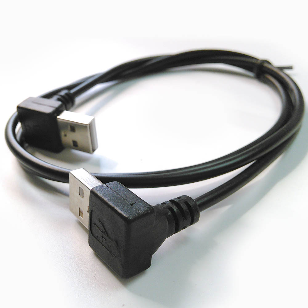 Both Side Angled Usb Extension Cable L Shape Plug Usb Male Cable