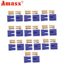 10pair/lot Amass EC2 Male Female Bullet Connector Banana Head Plug For RC Lipo Battery