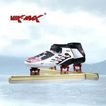 VIK-MAX ice speed skate shoes stainless ice blade adult kids cold resistant  ice skate shoes