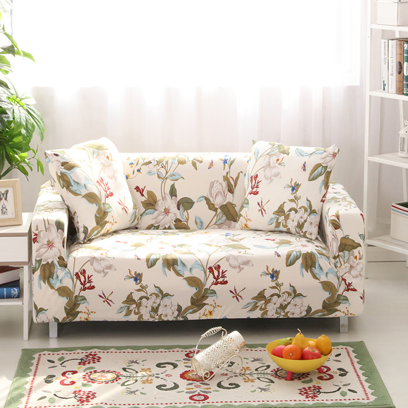 100% Polyester Stretch Cartoon Sofa Cover Tight Warp Slipcover Floral Flower  Elasticity Couch Cover(