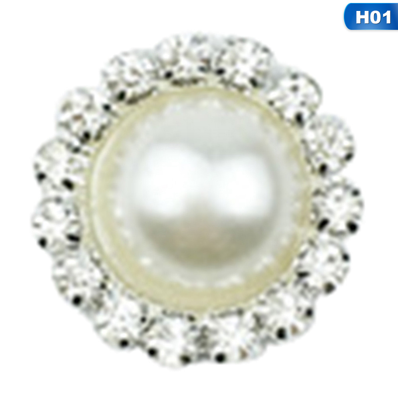Detail Feedback Questions about 10 Pcs Pack DIY Round Flat Bottom Rhinestone  Button Pearl Button For Wedding Dress Decoration Gift Home Sewing Decor on  ... e372552657eb