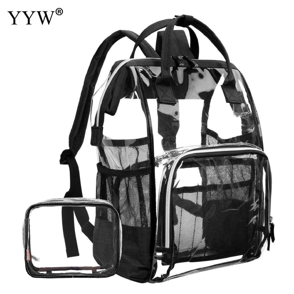 Clear Schoolbag Large Capacity Transparent Fashion Girls Backpack Clear Jelly Versatile Student Bags Quality PVC Backpack