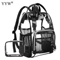 Clear Schoolbag Large Capacity Transparent Fashion Girls Backpack Clear Jelly Versatile Student Bags Quality PVC Backpack 2019