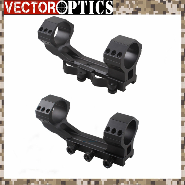 Vector Optics Tactical 20 MOA 35mm One Piece Scope Picatinny Mount With QD Ring Or Bolt Screws 21mm Base Dual Rings