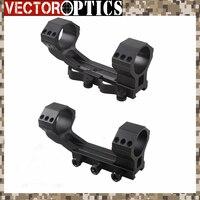 Vector Optics Tactical 20 MOA 35mm de Uma Peça Âmbito Picatinny Montar com QD Mount Anel ou Parafuso Parafusos 21mm Dupla Base de Anéis