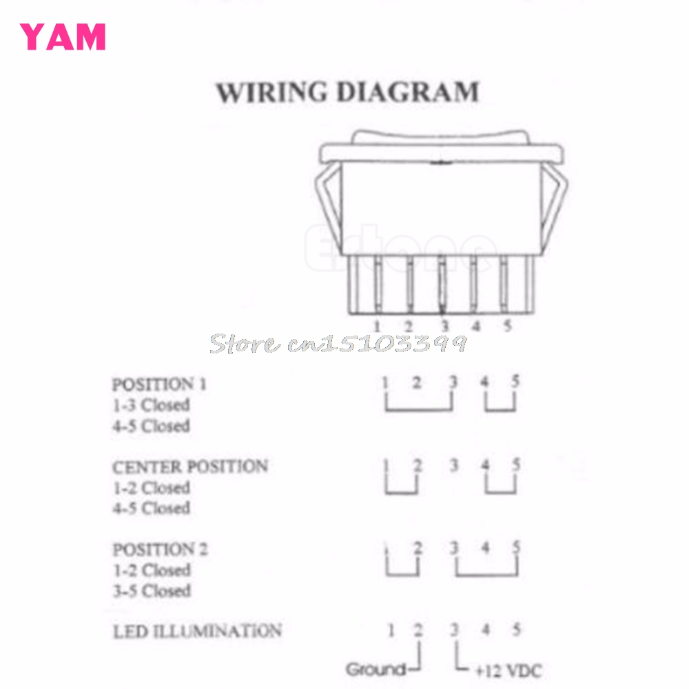 5 Pin Spst Rocker Switch Wiring Diagram Circuit And Ac 3 Prong Dc 12v 20a Universal Auto Car Power Window On Off Rh Aliexpress Com Carling