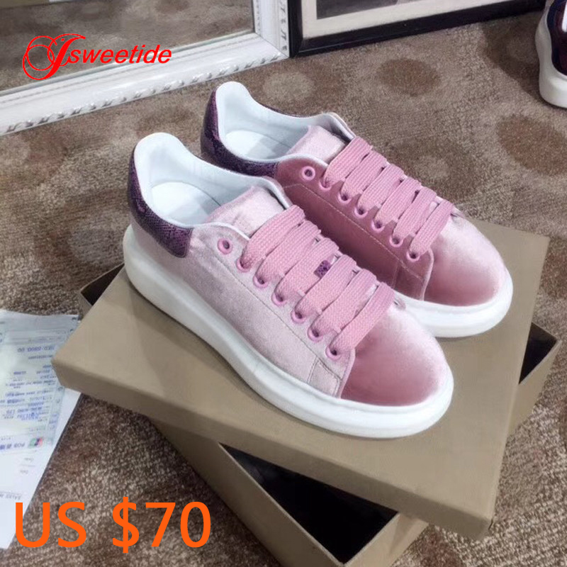 Sneakers Women Cow Suede Designer Wedges Luxury Brand Shoes Flat Platform Fashion Genuine Leather High Quality