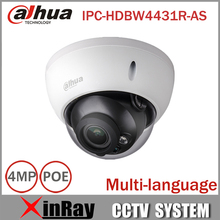 Dahua 4MP CCTV IP Camera IPC-HDBW4431R-AS Support IK10 IP67 Audio and Alarm PoE Camera With IR Range 30m