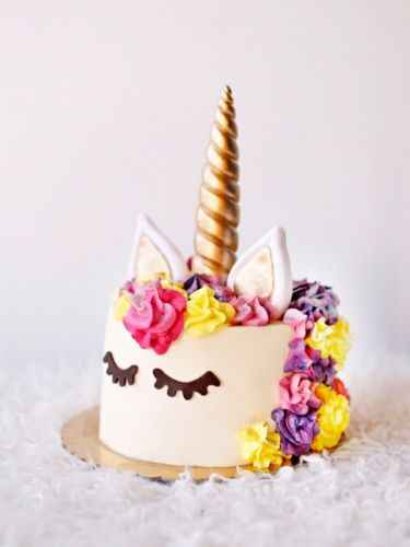 חדש זהב כסף פרחוני קריקטורה קרנות עוגת טופר מדבקות ילדים מסיבת יום הולדת תינוק מקלחת עוגת תפאורה צילינדר